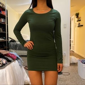 Extra small forest green dress